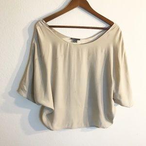 Vince Beige 100% Silk Blouse, Size XS